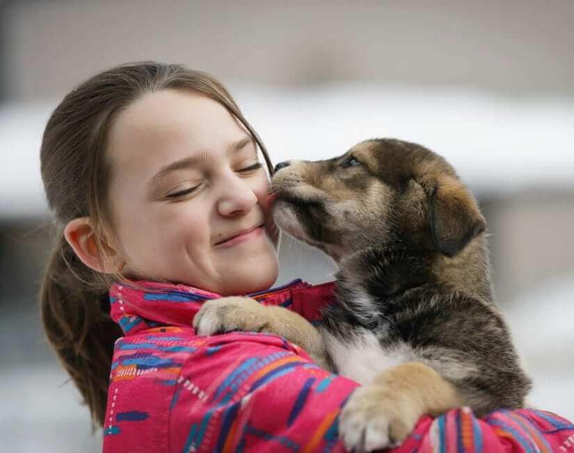 BC SPCA 125 Puppy and Girl