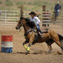 Rodeo horse riding
