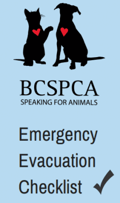 BC SPCA Emergency Evacuation Checklist