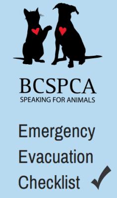 BC SPCA Emergency Evacuation Checklist