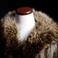 Fur coat on mannequin
