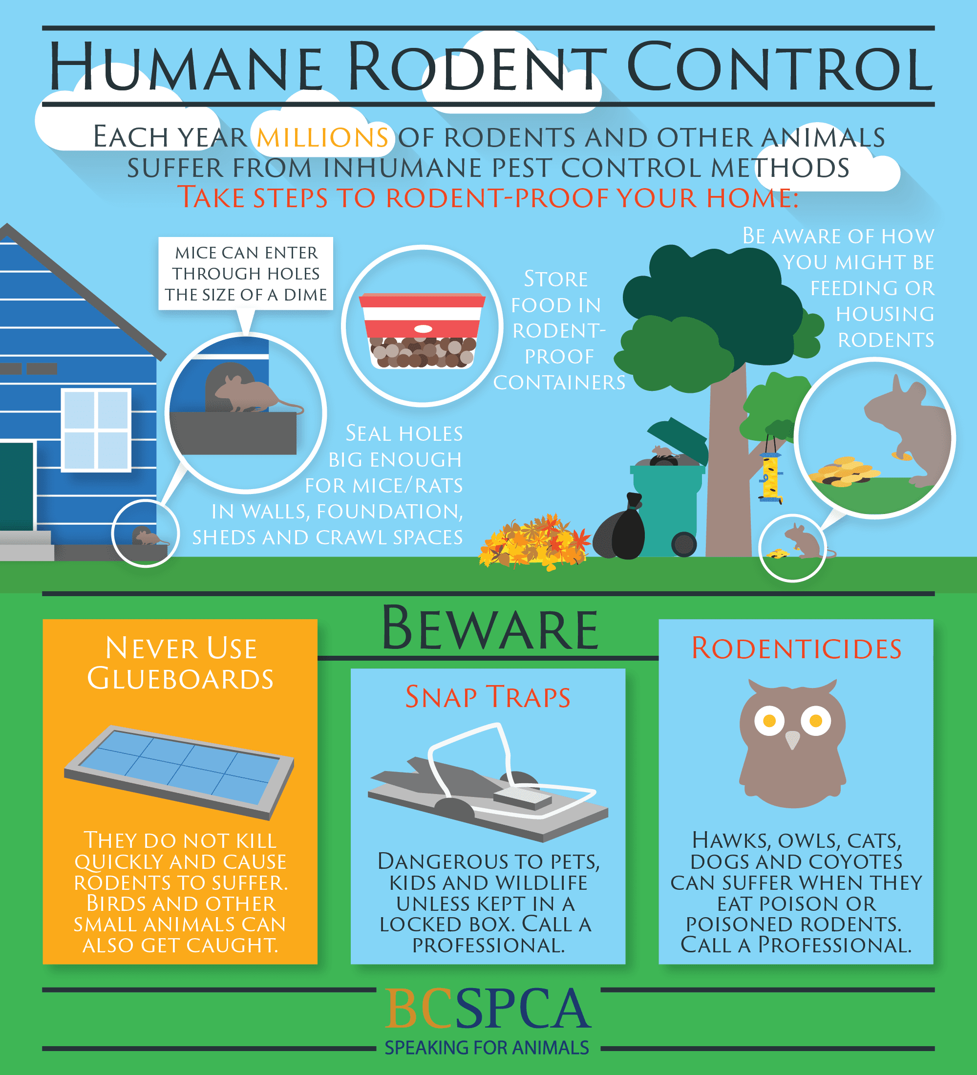 infographic on humane rodent control