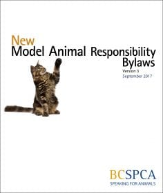 BC SPCA model animal responsibility bylaw